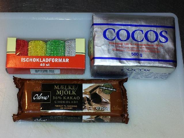 ischoklad med kokosfett